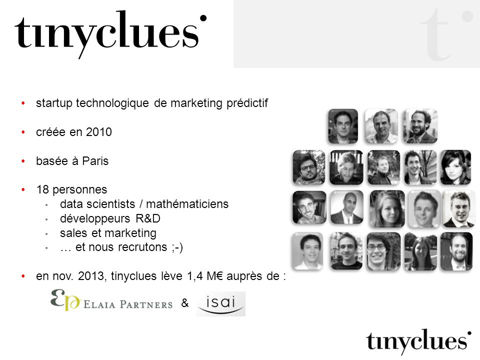 startup technologique de marketing prédictif