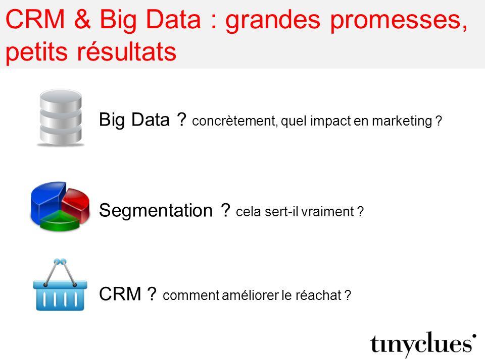 CRM & Big Data : grandes promesses, petits résultats