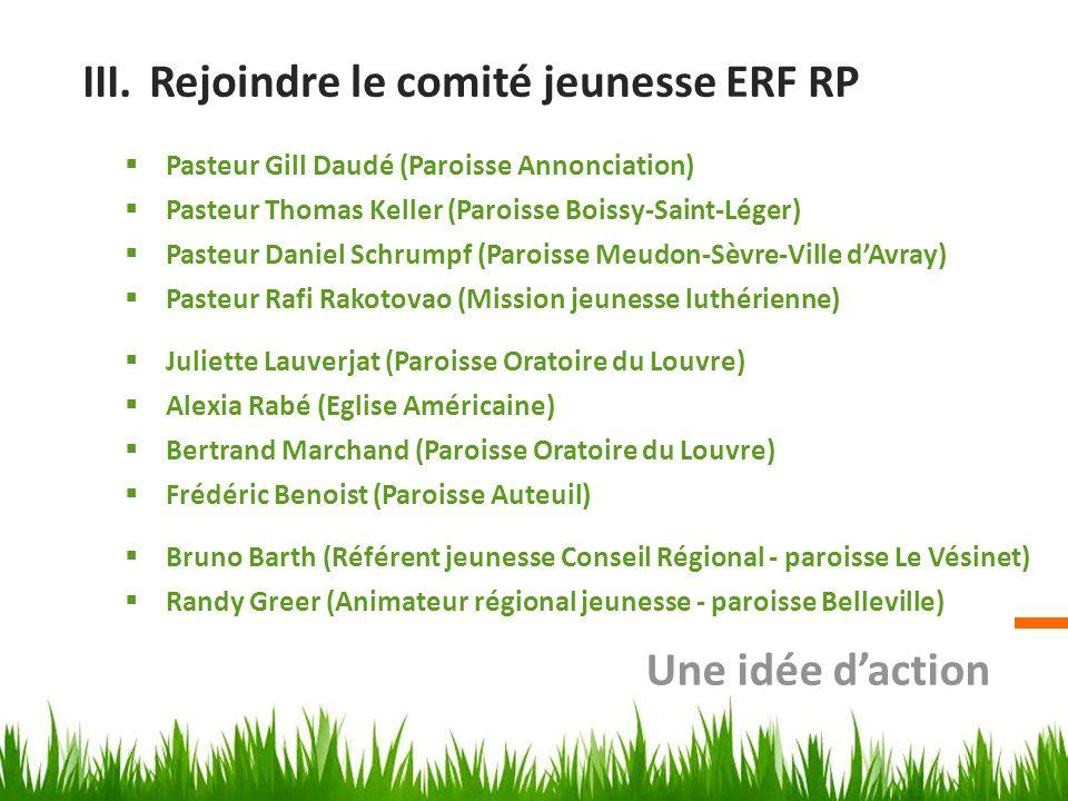 Rejoindre le comité jeunesse ERF RP