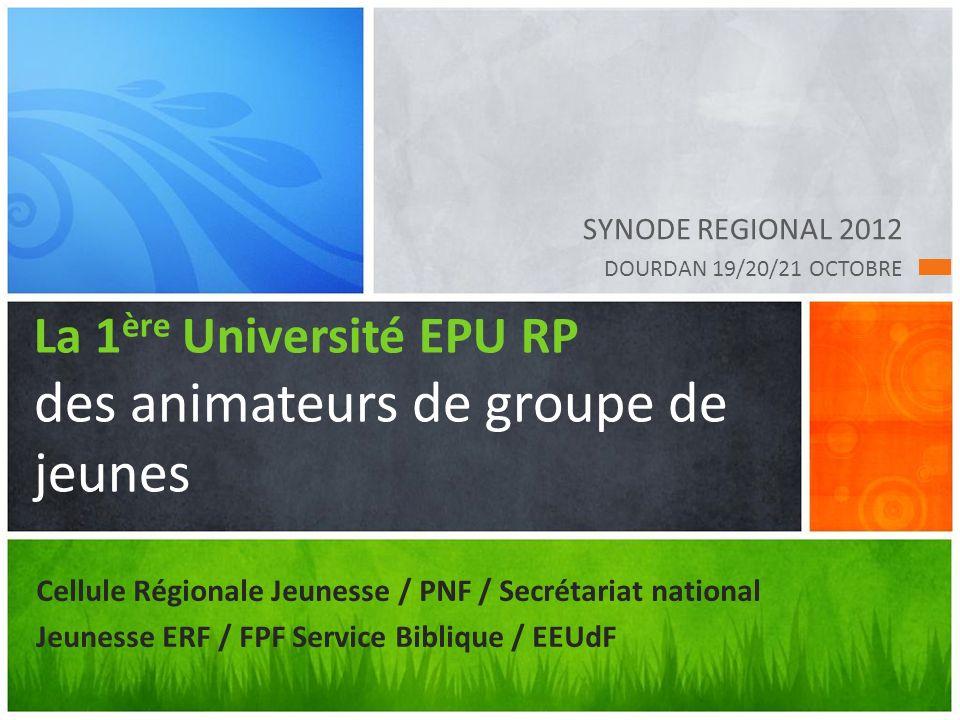 La 1ère Université EPU RP des animateurs de groupe de jeunes