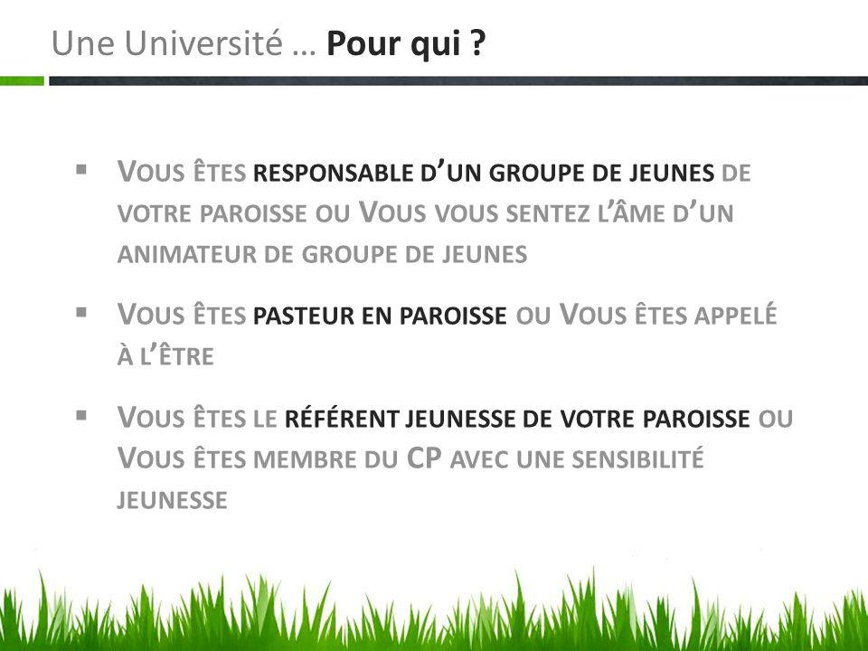Une Université … Pour qui