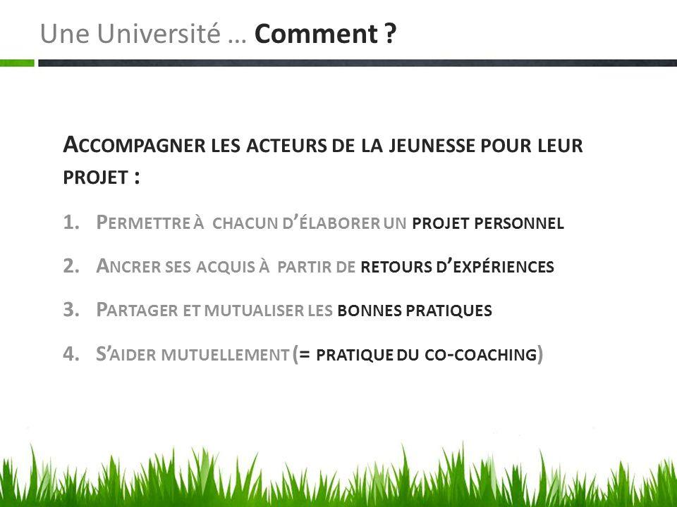 Une Université … Comment