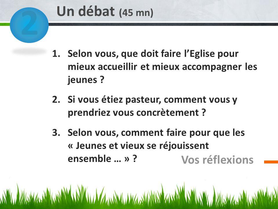 2 Un débat (45 mn) Vos réflexions
