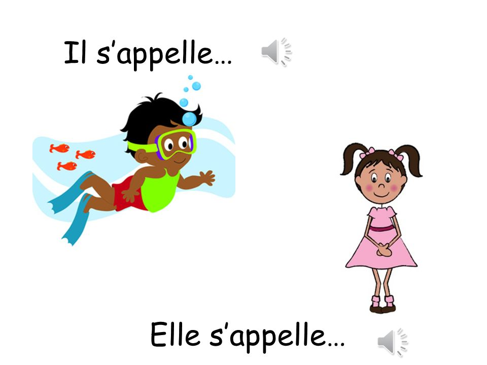 Il s'appelle… His name is…/ Her name is… Elle s'appelle…
