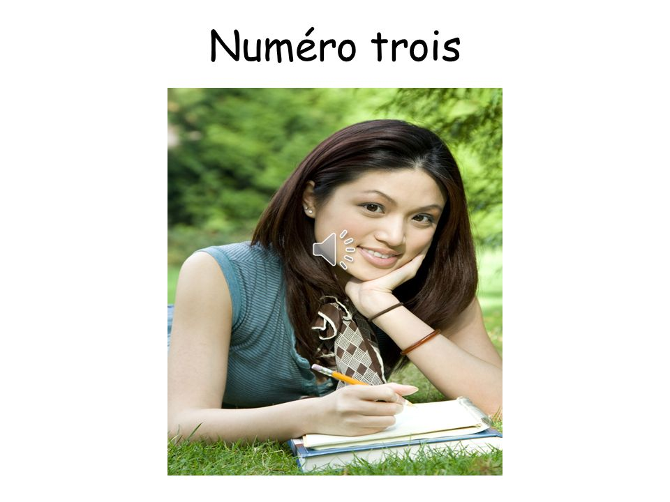Numéro trois Answers: My name is Marie. I am 15 years old.