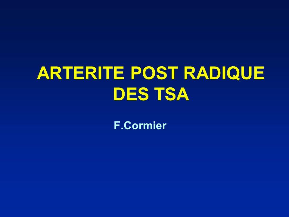 ARTERITE POST RADIQUE DES TSA