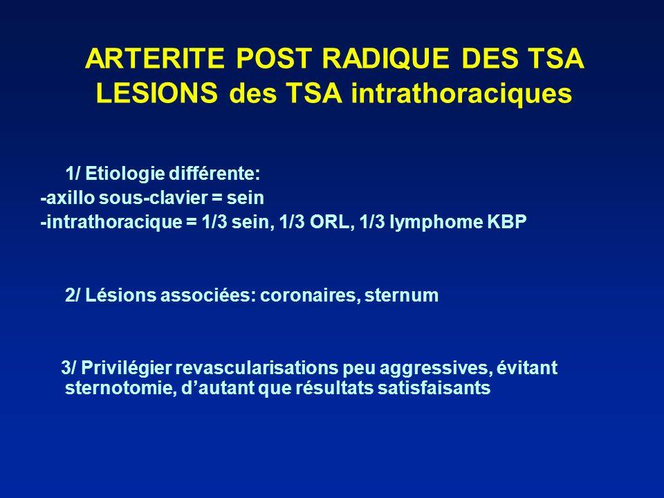 ARTERITE POST RADIQUE DES TSA LESIONS des TSA intrathoraciques