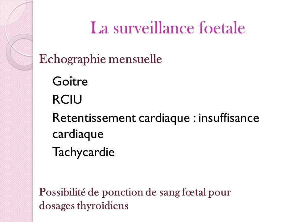 La surveillance foetale