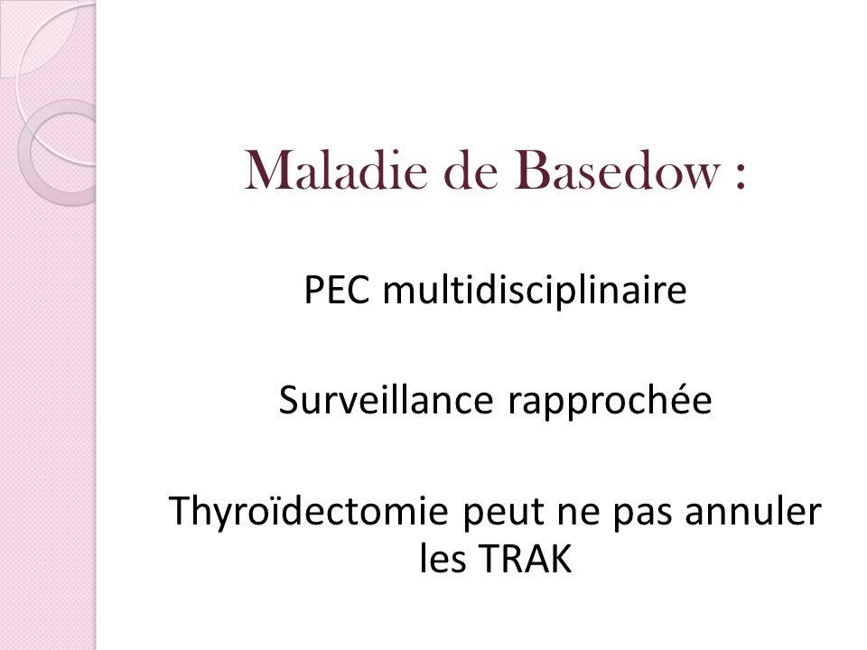 Maladie de Basedow : PEC multidisciplinaire Surveillance rapprochée