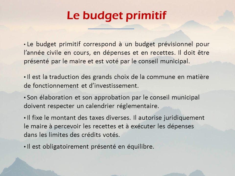 Le budget primitif