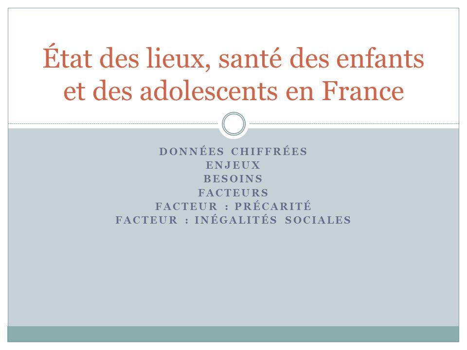 État des lieux, santé des enfants et des adolescents en France