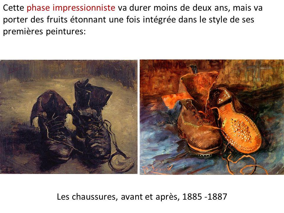 Les chaussures, avant et après, 1885 -1887