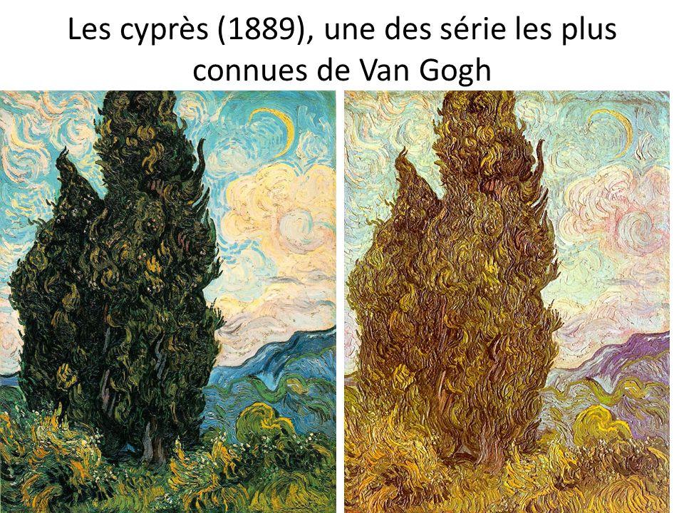 Les cyprès (1889), une des série les plus connues de Van Gogh