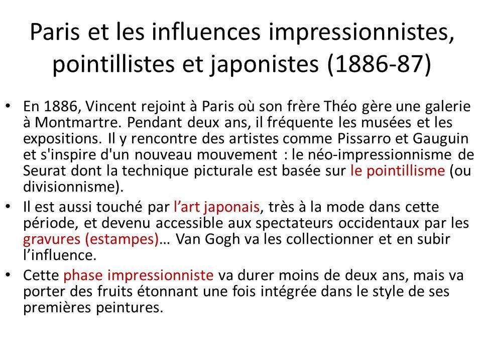 Paris et les influences impressionnistes, pointillistes et japonistes (1886-87)