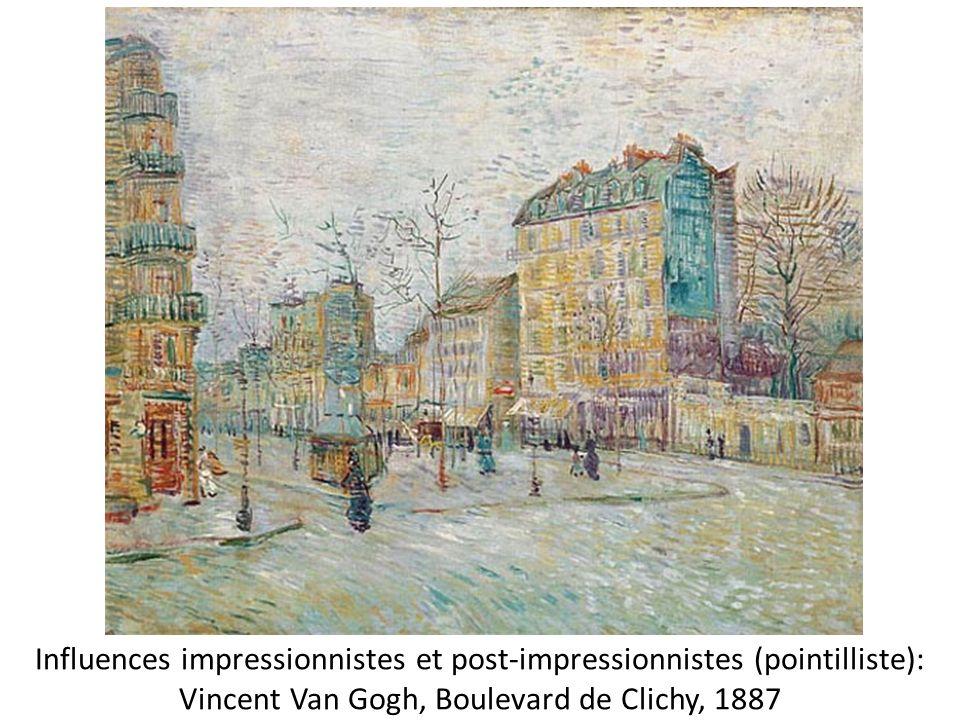 Influences impressionnistes et post-impressionnistes (pointilliste): Vincent Van Gogh, Boulevard de Clichy, 1887
