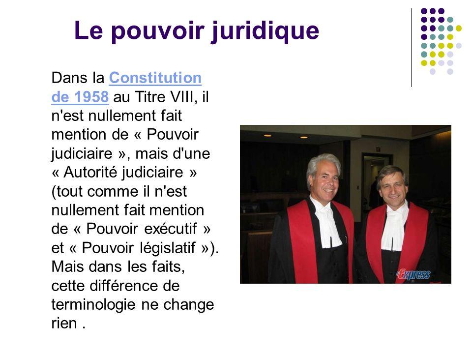 Le pouvoir juridique