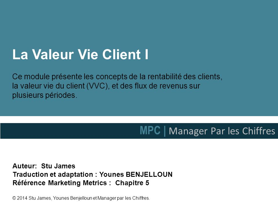 La Valeur Vie Client I MPC | Manager Par les Chiffres