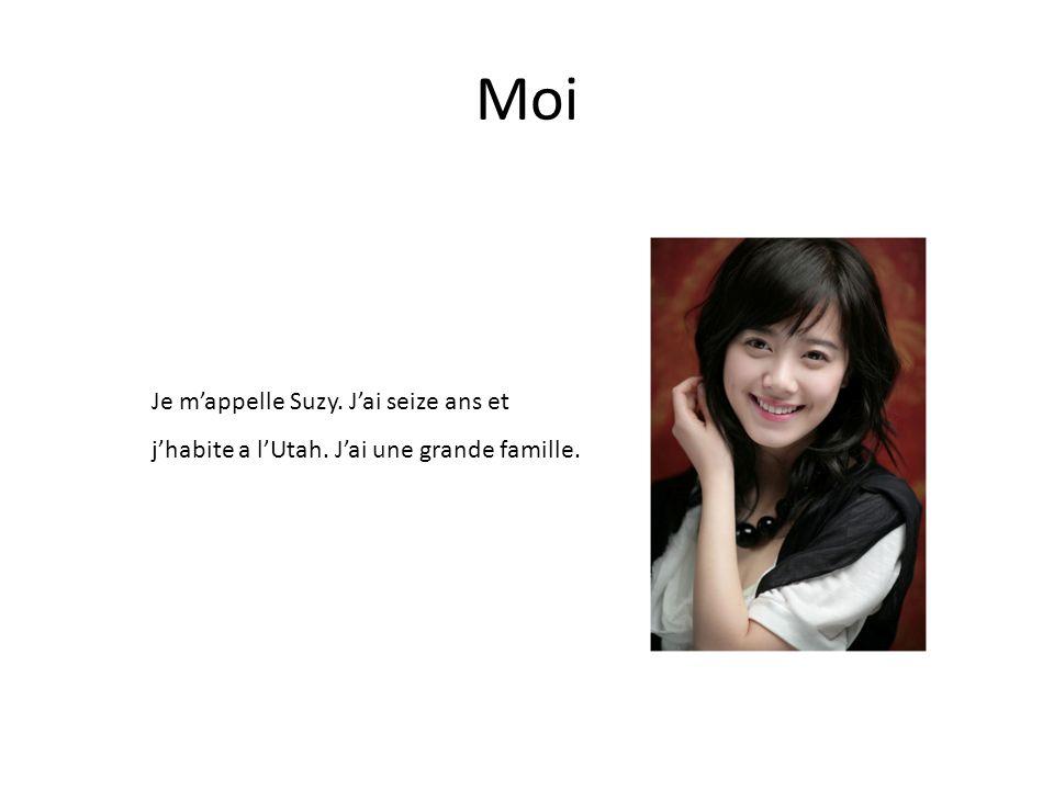 Moi Je m'appelle Suzy. J'ai seize ans et