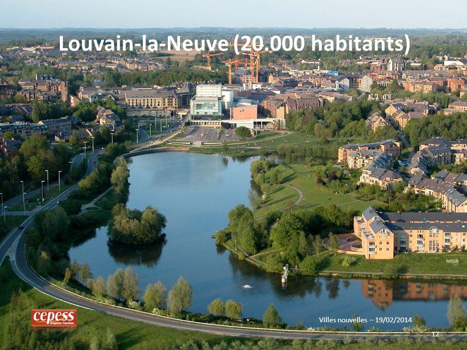 Louvain-la-Neuve (20.000 habitants)