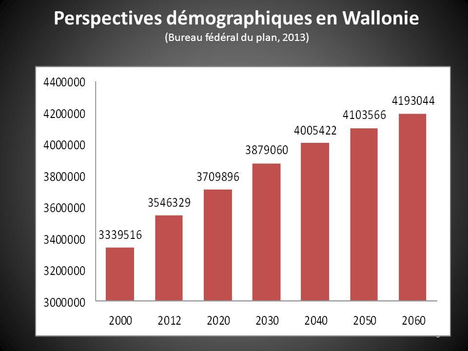 Perspectives démographiques en Wallonie (Bureau fédéral du plan, 2013)