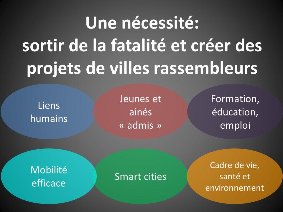 Une nécessité: sortir de la fatalité et créer des projets de villes rassembleurs