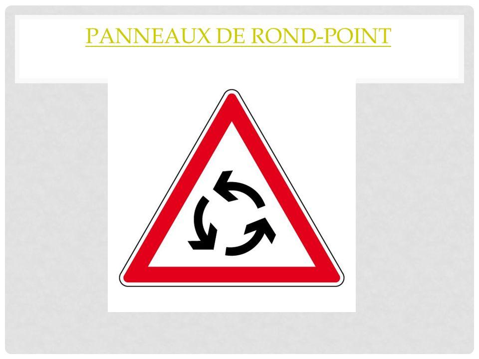 panneaux de rond-point
