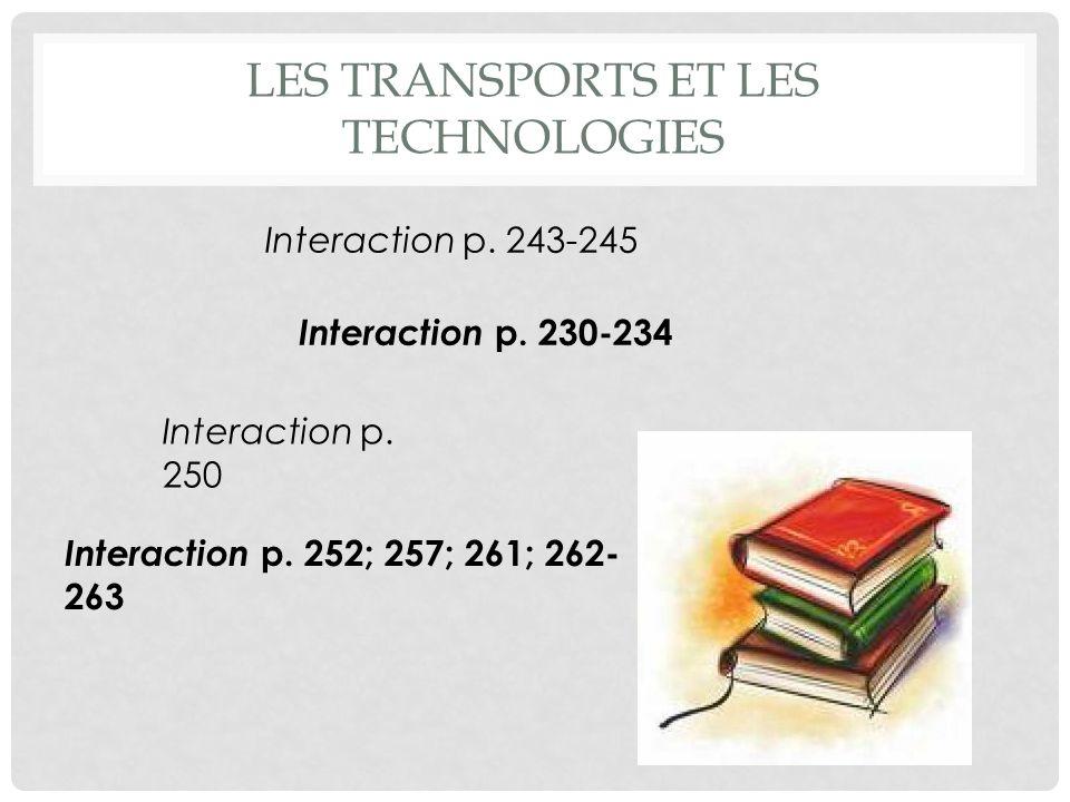 Les Transports et les technologies