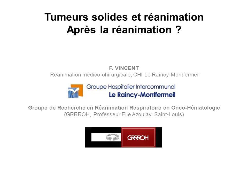 Tumeurs solides et réanimation Après la réanimation
