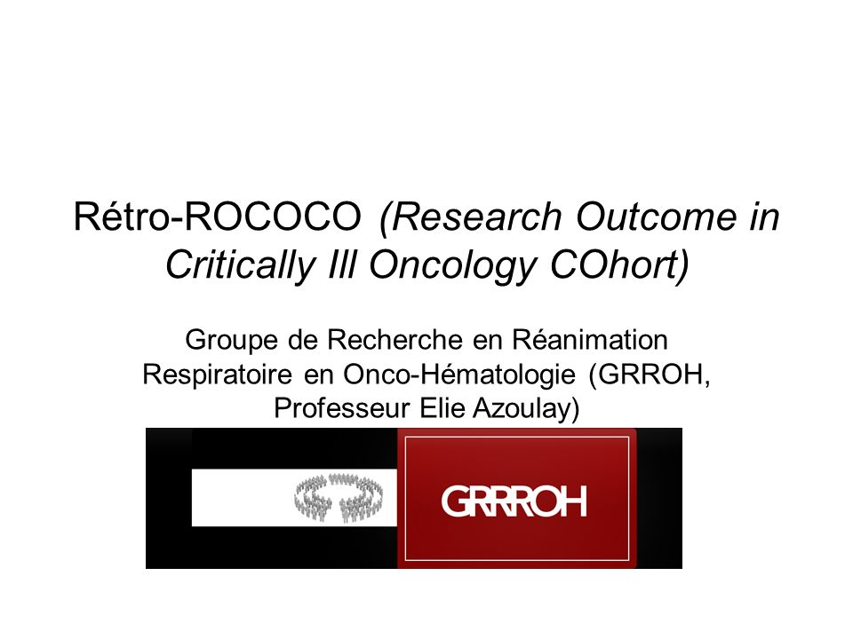 Rétro-ROCOCO (Research Outcome in Critically Ill Oncology COhort)