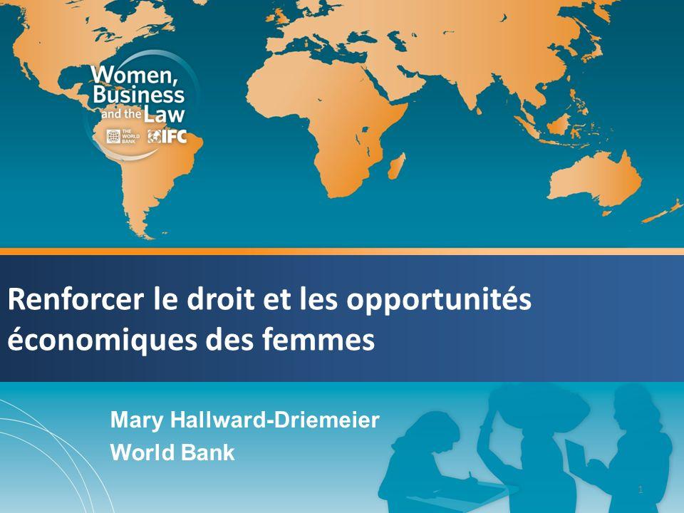Renforcer le droit et les opportunités économiques des femmes