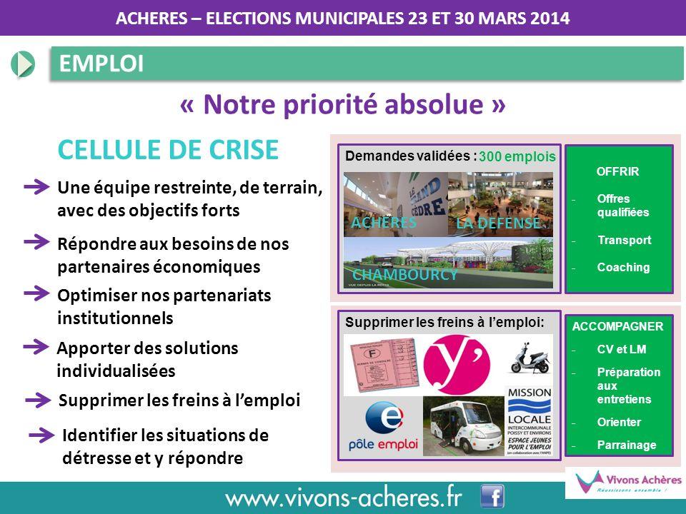 « Notre priorité absolue »