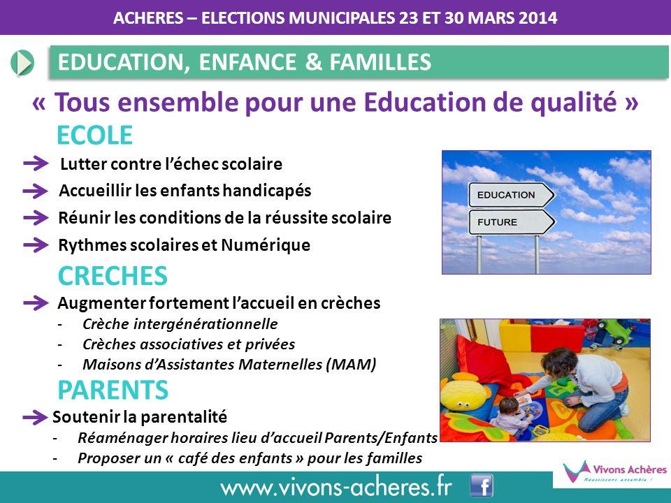 « Tous ensemble pour une Education de qualité »