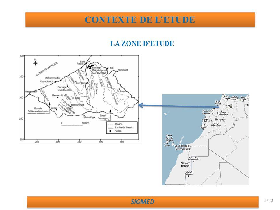 CONTEXTE DE L'ETUDE LA ZONE D'ETUDE SIGMED