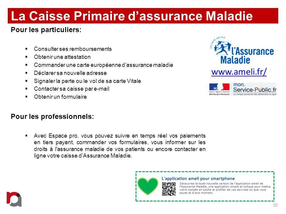 La Caisse Primaire d'assurance Maladie