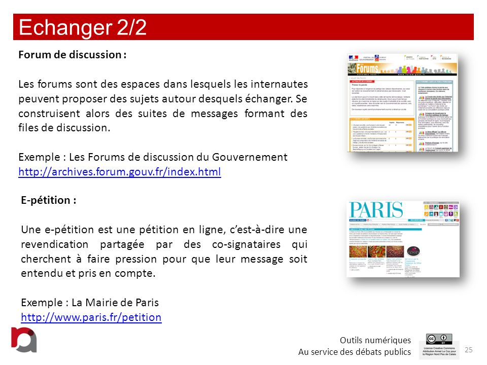 Echanger 2/2 Forum de discussion :