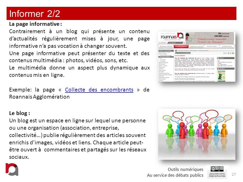 Informer 2/2 La page informative :