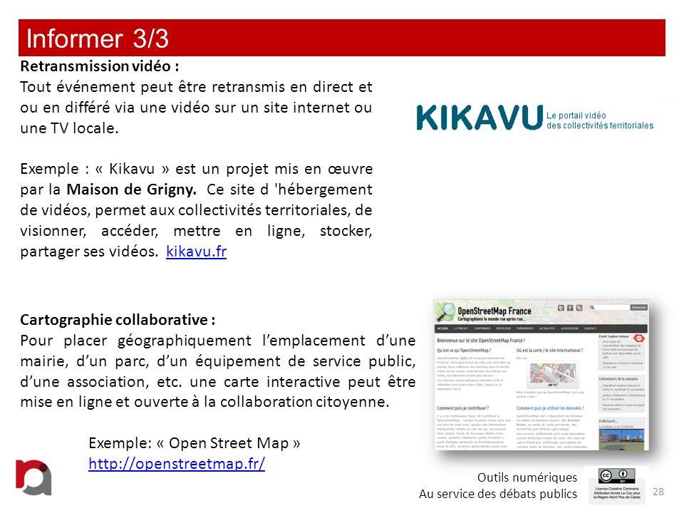 Informer 3/3 Retransmission vidéo :