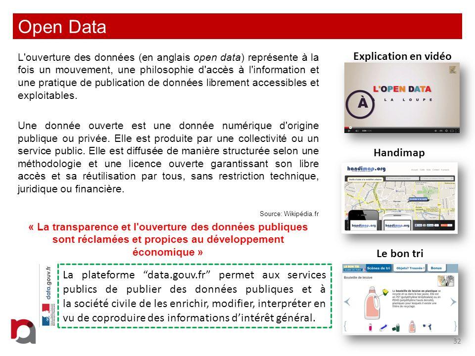 Open Data Explication en vidéo Handimap Le bon tri