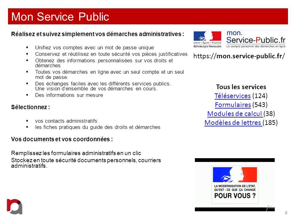 Mon Service Public https://mon.service-public.fr/ Tous les services