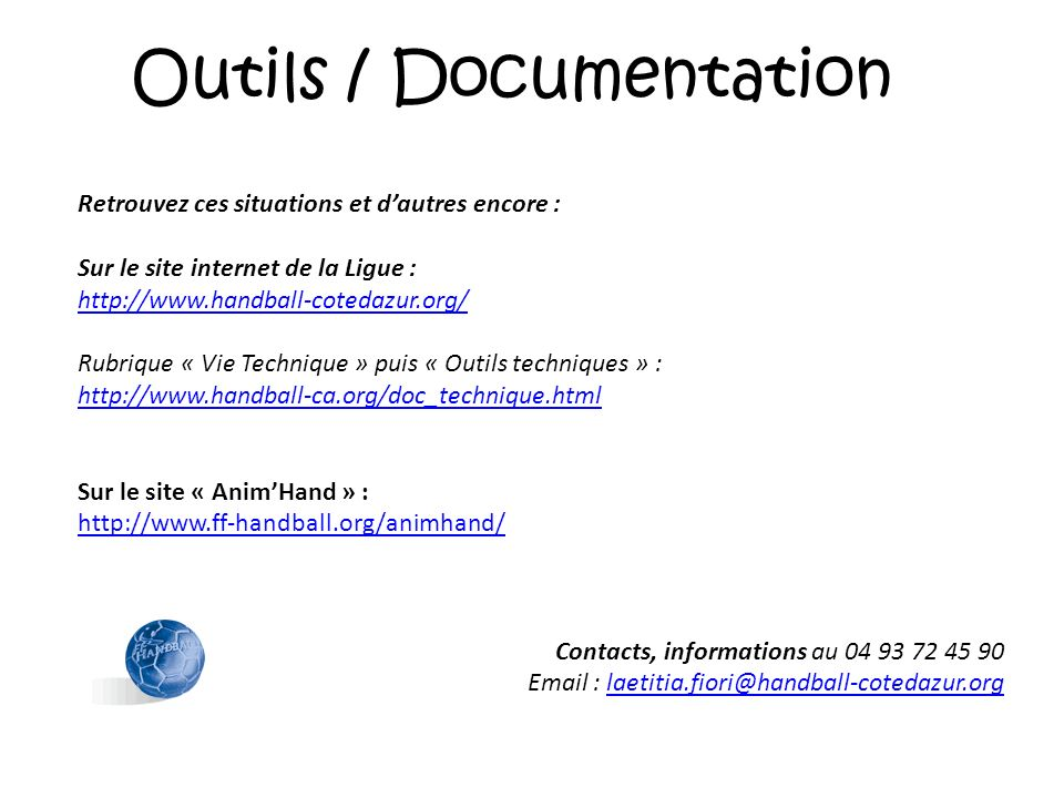 Outils / Documentation