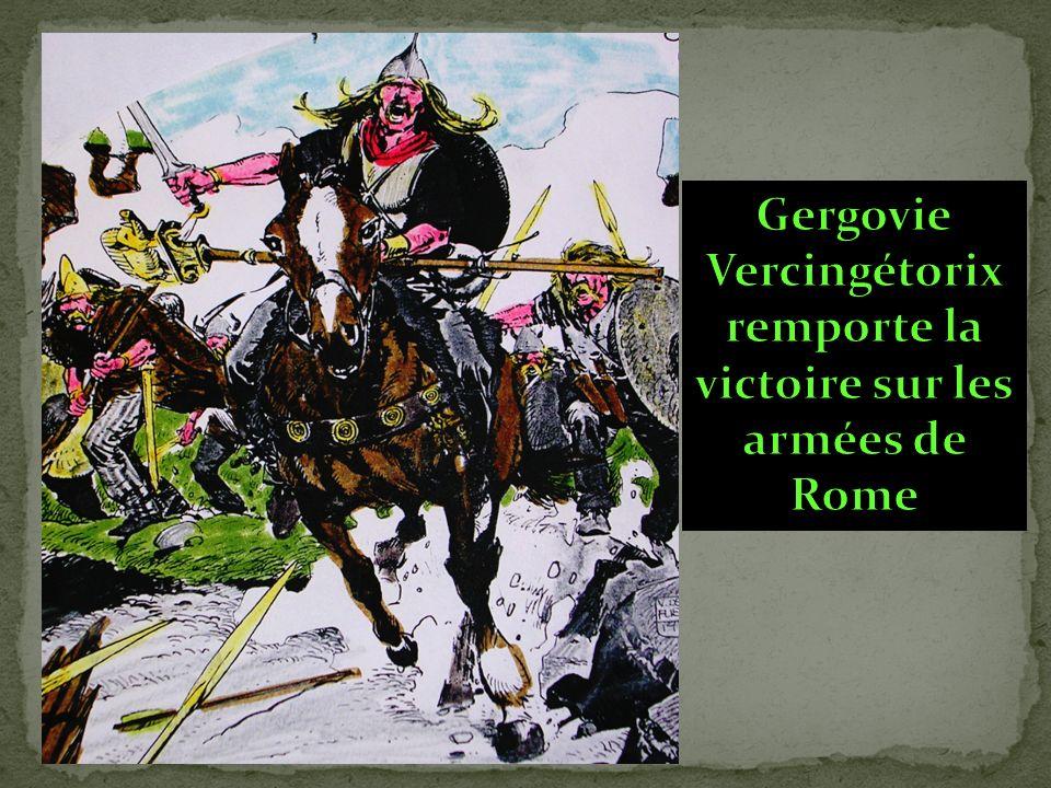 Vercingétorix remporte la victoire sur les armées de Rome
