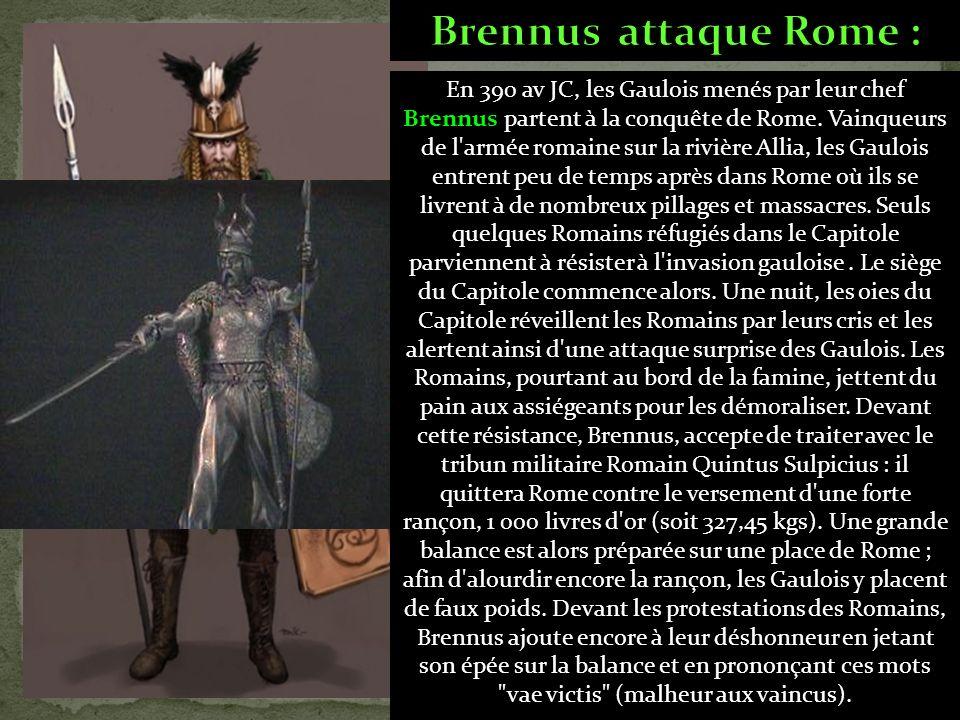 Brennus attaque Rome :