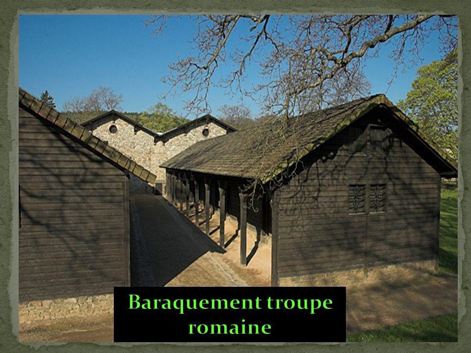 Baraquement troupe romaine