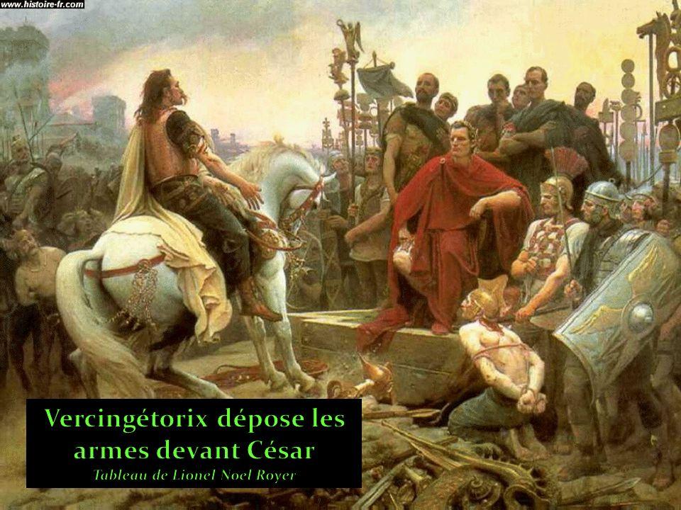 Vercingétorix dépose les armes devant César