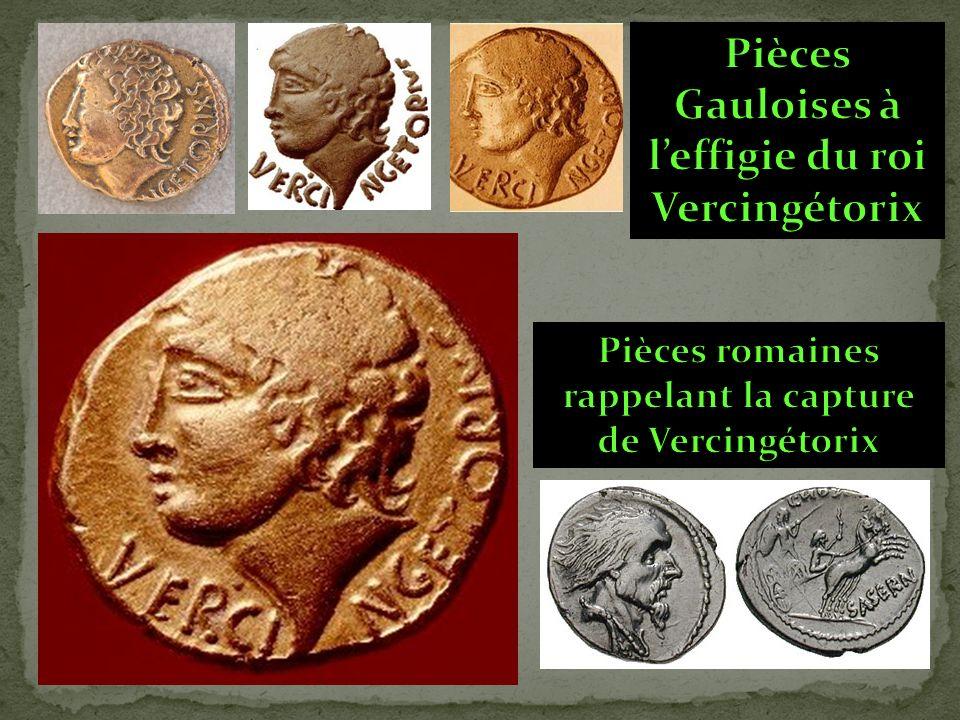 Pièces Gauloises à l'effigie du roi Vercingétorix
