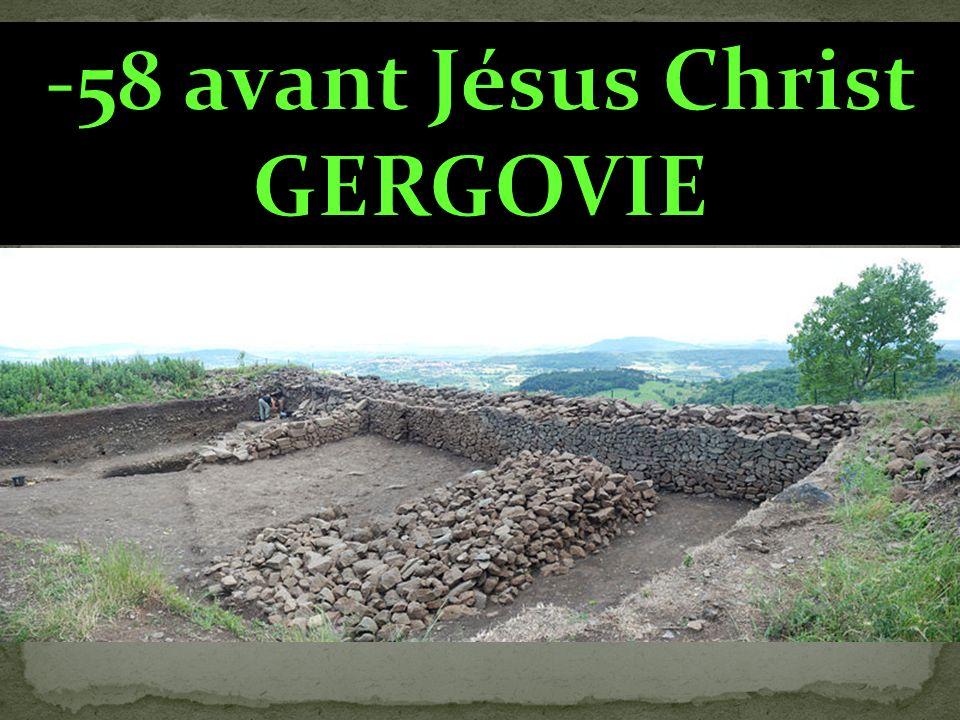 -58 avant Jésus Christ GERGOVIE