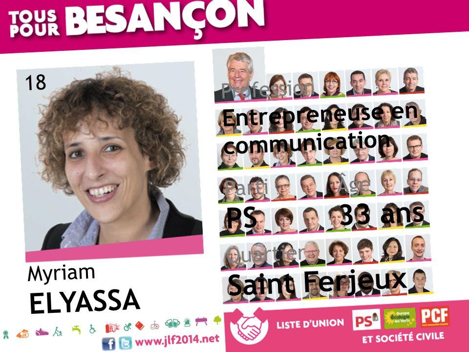 33 ans PS Saint Ferjeux ELYASSA Entrepreneuse en communication 18