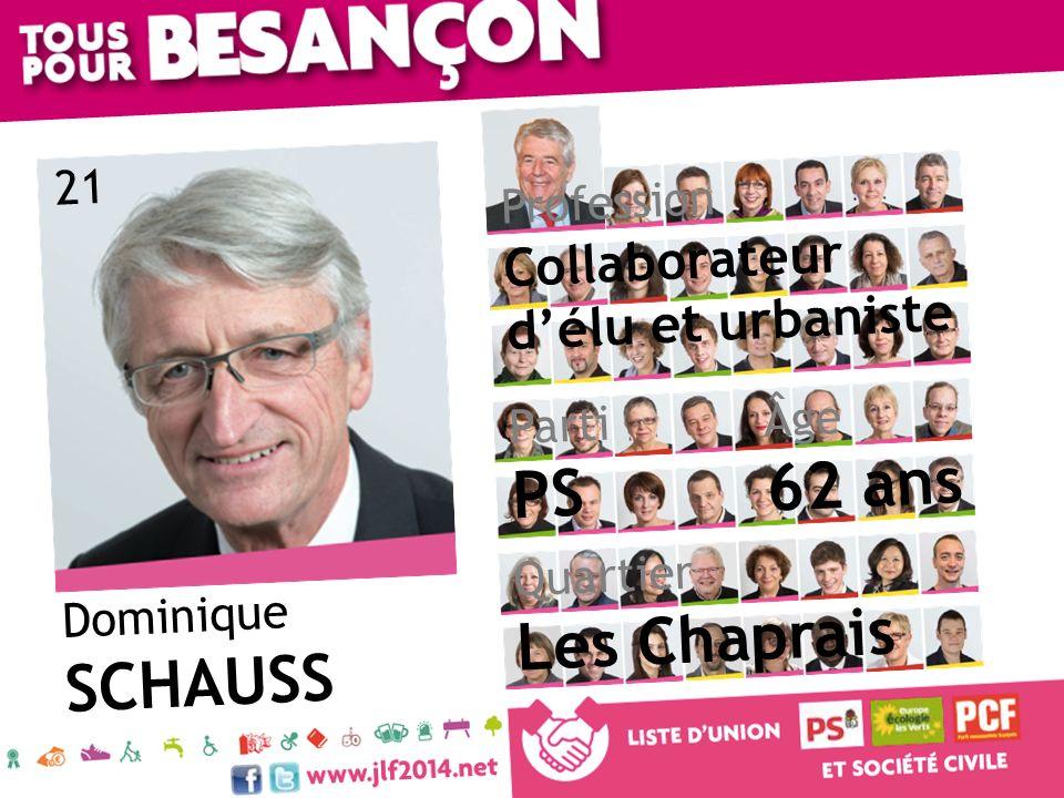 62 ans PS Les Chaprais SCHAUSS Collaborateur d'élu et urbaniste 21