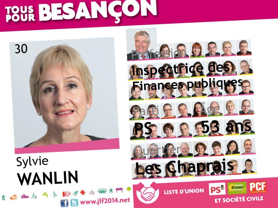 53 ans PS Les Chaprais WANLIN Inspectrice des Finances publiques 30