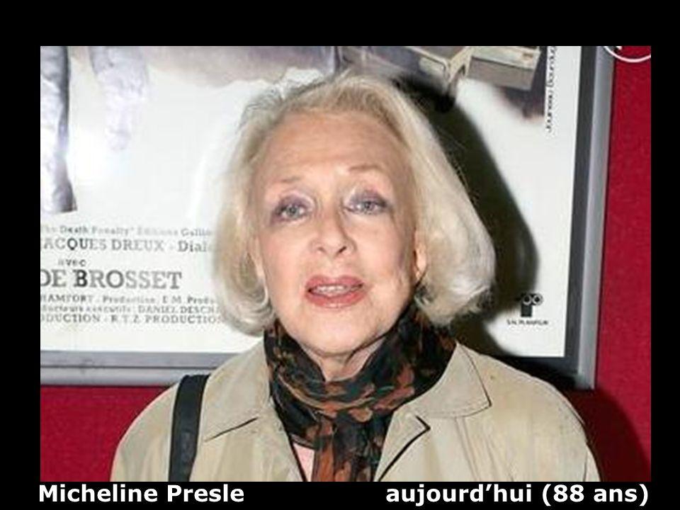 Micheline Presle aujourd'hui (88 ans)